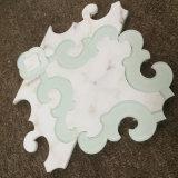 유리제 Waterjet, 좋은 품질 대리석 모자이크를 가진 Carrara 백색