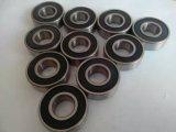 Rodamiento de bolitas revestido de la bicicleta del caucho de la alta calidad 6202