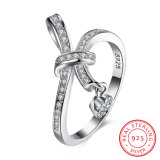 Monili di modo dell'anello di colore dell'argento di Zircon dell'argento sterlina 925