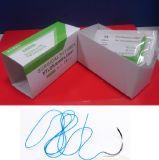 Suturare di nylon Non-Assorbibile sintetico blu con l'ago