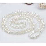 Collar barroco de la perla de la boda de 8m m AA