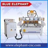 Ele 0809 3D回転式のCNCのルーターの彫版機械マルチ回転式の木製の切り分けるCNCのルーター