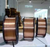 Er70s-6/fil de soudure protégé du gaz enduit de MIG de solide en cuivre de CO2
