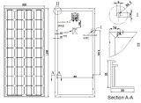 18V 90W 100W het Zonnepaneel PV Module van Monocrystalline met Ce Approved