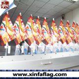 옥외 차 미러 깃발 또는 차 기치를 인쇄하는 주문을 받아서 만들어진 차 깃발 또는 디지털