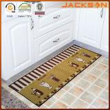 Natte lavable antidérapante de plancher de cuisine imprimée par coutume