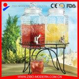 De Automaat van de Drank van de Drank van het glas met Spon en de Emmer van 5 Gallon