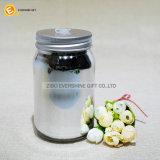 Vaso di muratore di vetro con colore d'argento placcante ed il coperchio