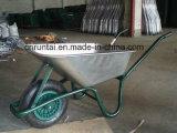 Wheelbarrow plástico do uso do jardim da bandeja do Sell quente (WB6414T)