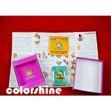Conjunto cuadrado del libro de la tarjeta del juego de niños de la impresión