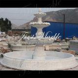Fontana di pietra di marmo Mf-1098 di Carrara di bianco di giardino del granito