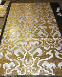 Gold Of mosaic, Pattern Of mosaic Of art Of mosaic Of wall Of tile (HMP648)