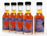 Супер бутылка ясности 50ml стеклянная для водочки, вискиа, рома, джина