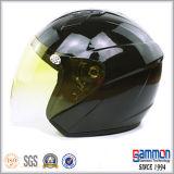 輝やきの黄色の開いた表面オートバイまたはスクーターのヘルメット(OP206)