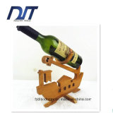 Crémaillère simple en bambou populaire ou métier de vin rouge de bouteille
