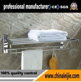 Cremalheira de toalha fixada na parede ajustável do aço inoxidável com gancho