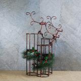Support de bougie décoratif en métal d'arbre de Noël