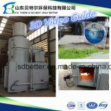 850-1300 incinerador do desperdício da alta temperatura do grau Célsio, guia do vídeo 3D