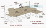 De donkere Bruine Bank van het Leer van de Kleur, het Regelbare Meubilair van het Huis van de Hoofdsteun (M221)