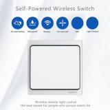 Commutateur léger de mur intelligent à télécommande sans batterie sans fil à extrémité élevé de 120V 220V Onoff 1000W