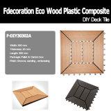 Revestimento composto plástico de madeira do Decking WPC de DIY