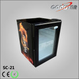 De kleine Koeler van de Drank van de Vertoning van de Deur van het Glas van de Capaciteit Enige Mini (SC21)
