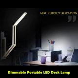 Lampe de bureau rechargeable moderne pliable de DEL