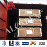 El tiempo de prueba Panel de Pared Exterior Revestimiento de cepillado Plata