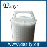 Sustitución de cartucho de filtro de flujo de agua grande plisado
