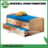 Móveis de cama em madeira de pinho com gaveta e underbed (WJZ-B24)