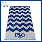 Полотенце 100% пляжа жаккарда хлопка (QH900990)
