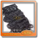 Légèrement Virgin Clip-dans Hair de Hair brésilien