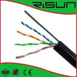 Cu/CCA/Tc Conductor (Steel Wire를 가진 PVC+PE) Jacket UTP Cat5e