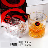 По-разному чашка стекла вина, стеклянная кружка для ликвора, воды без ручки