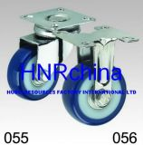Blaue Belüftung-Schwenker-Platten-Oberseite-Fußrolle