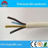 câble rond de Rvv de jupe de noir d'isolation de PVC de 3*2.5mm2 3core