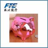 Casella di moneta personalizzata di disegno del maiale della Banca Piggy