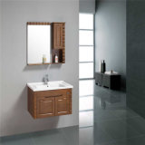 Vanità di lusso semplice della stanza da bagno di legno solido dell'angolo della parete