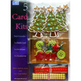 Natal Card DIY Kit com Ribbons Hcs5-5