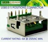 5 Pin Female Steckverbinder für Oppo Power Adapter, Power Bank. Unterstützungsschnelle Aufladung, Nennstrom: 8A