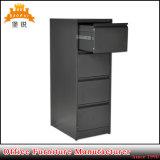 Schwarzer vertikaler Aktenschrank der Metallbüro-Möbel-4-Compartment
