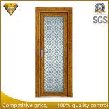 Il colore di legno ha progettato il portello di apertura di alluminio di vetro per la stanza da bagno