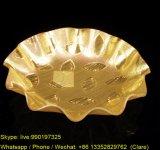 Bandeja de acrílico de la porción de la fruta del oro
