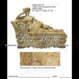 Marmeren Standbeeld Mej.-122 van het Calcium van het Standbeeld van het Graniet van de Steen Gouden
