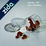 Ronda de té de caramelo de miel botella de PET de plástico transparente tarro del caramelo