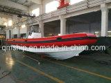 Bomba pneumática de borracha inflável agradável e barco de costela de alumínio