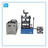 Prensa caliente manual hidráulica del laboratorio (25T) para el gránulo