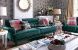 熱い販売の純木のソファーは米国式のためにセットした