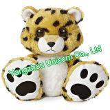Le CE badine le léopard mou de jouet de peluche de peluche de cadeau