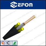 Все диэлектрические Анти--Задавливают Self-Supporting Unitube легкое для того чтобы установить кабель оптического волокна для антенны (GYFXY-3)